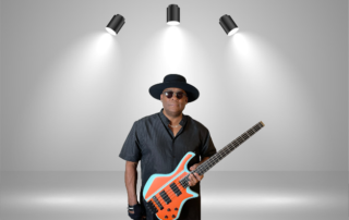 Robert Harper with a Biarnel Scorcio Headless Bass